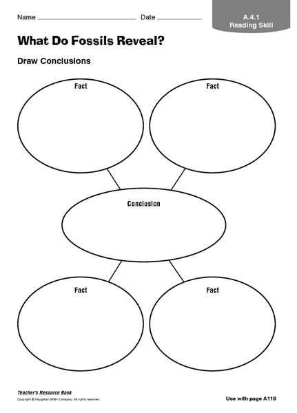Fossil Worksheets 4th Grade What Do Fossils Reveal Graphic organizer for 3rd 8th