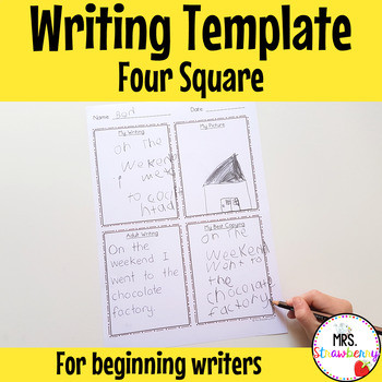 Search 4 square writing template