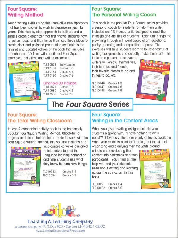 Four Square Writing Worksheet Four Square Writing Method for Early Learners