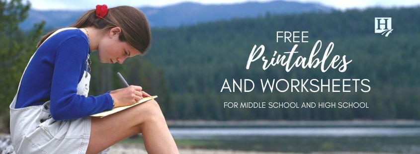 Free High School Worksheets Printables Printables for Middle School & High School – Homeschool