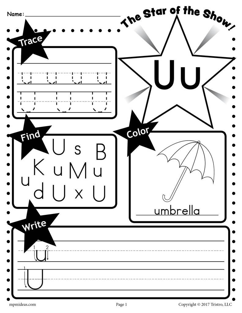 U 20 20Star 20of 20the 20show 20Letter 20worksheet 1024x1024