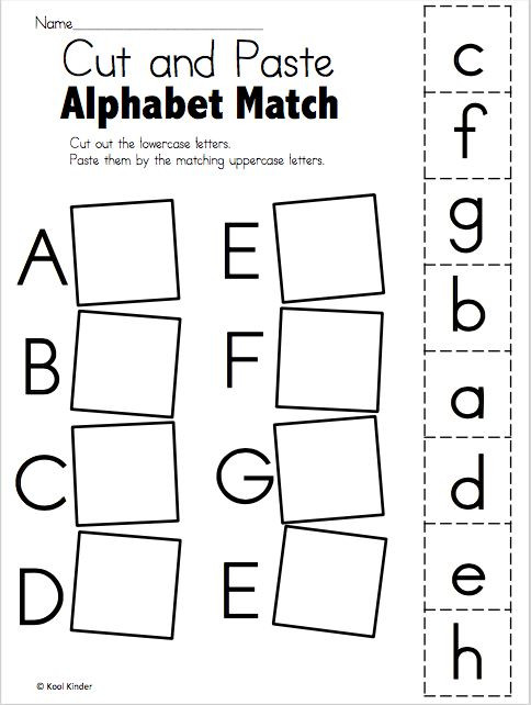 Free Printable Alphabet Matching Worksheets Alphabet Match A to E – Free Worksheets Madebyteachers