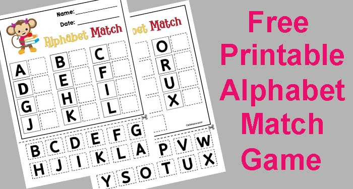 Free Printable Alphabet Matching Worksheets Free Printable Abc Matching Game for Preschool and Early
