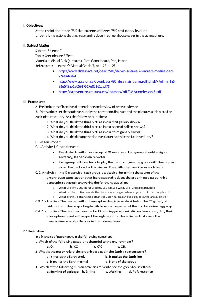 Greenhouse Effect Worksheet High School Greenhouse Effect Lesson Plan