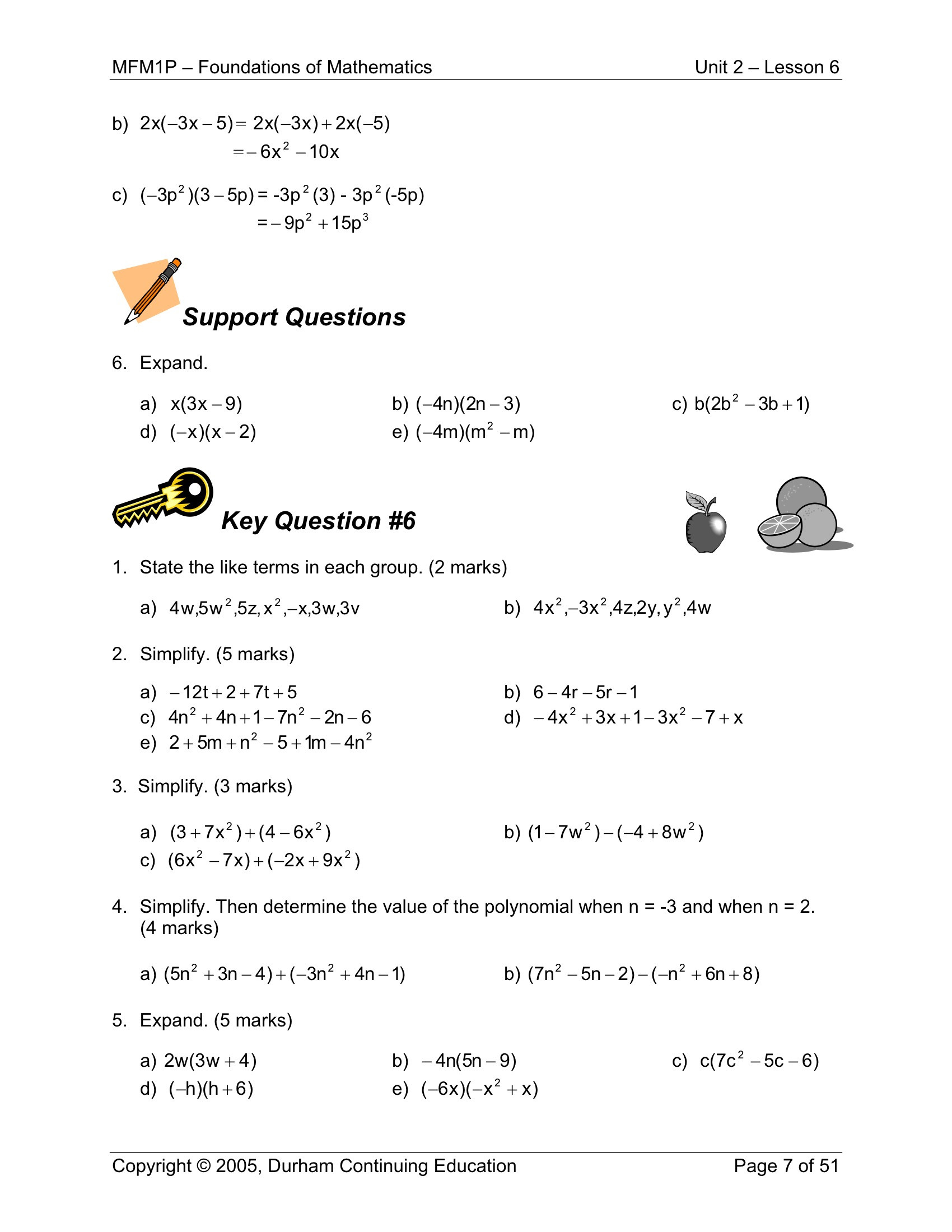 High School Algebra 2 Worksheets Applied Math Worksheets Grade High School Polynomials