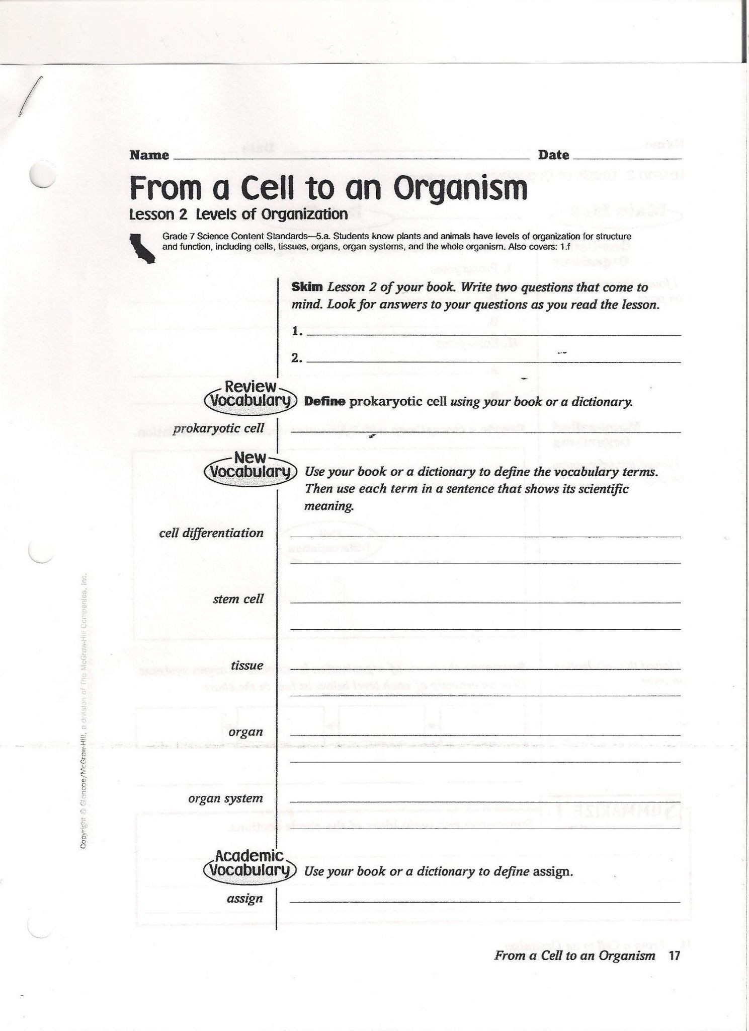 High School Environmental Science Worksheets 9th Grade Environmental Science Worksheets