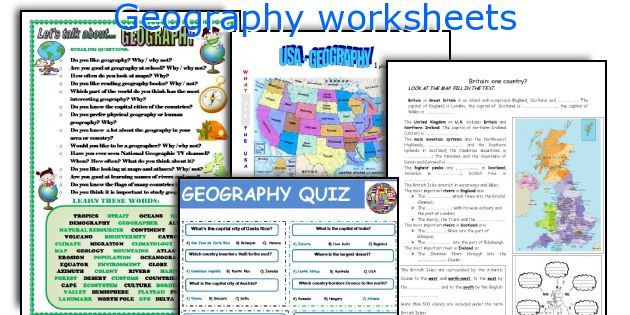 High School Geography Worksheets Geography Worksheets