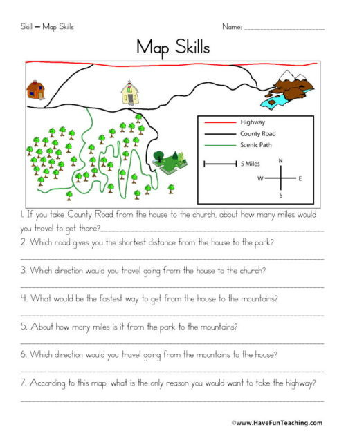 High School Geography Worksheets Maps Worksheets Have Fun Teaching Grade Geography Map Skills