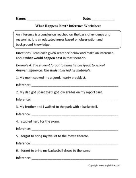Inference Worksheets High School Pdf Inference Worksheets