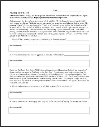 Inferences Worksheet High School Free Making Inferences Worksheets 6th Grade