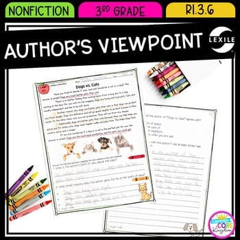 authors point of view in nonfiction 3rd grade ri 3 6