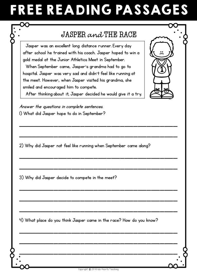 amazing free printable second grade reading prehension worksheets worksheet passages and