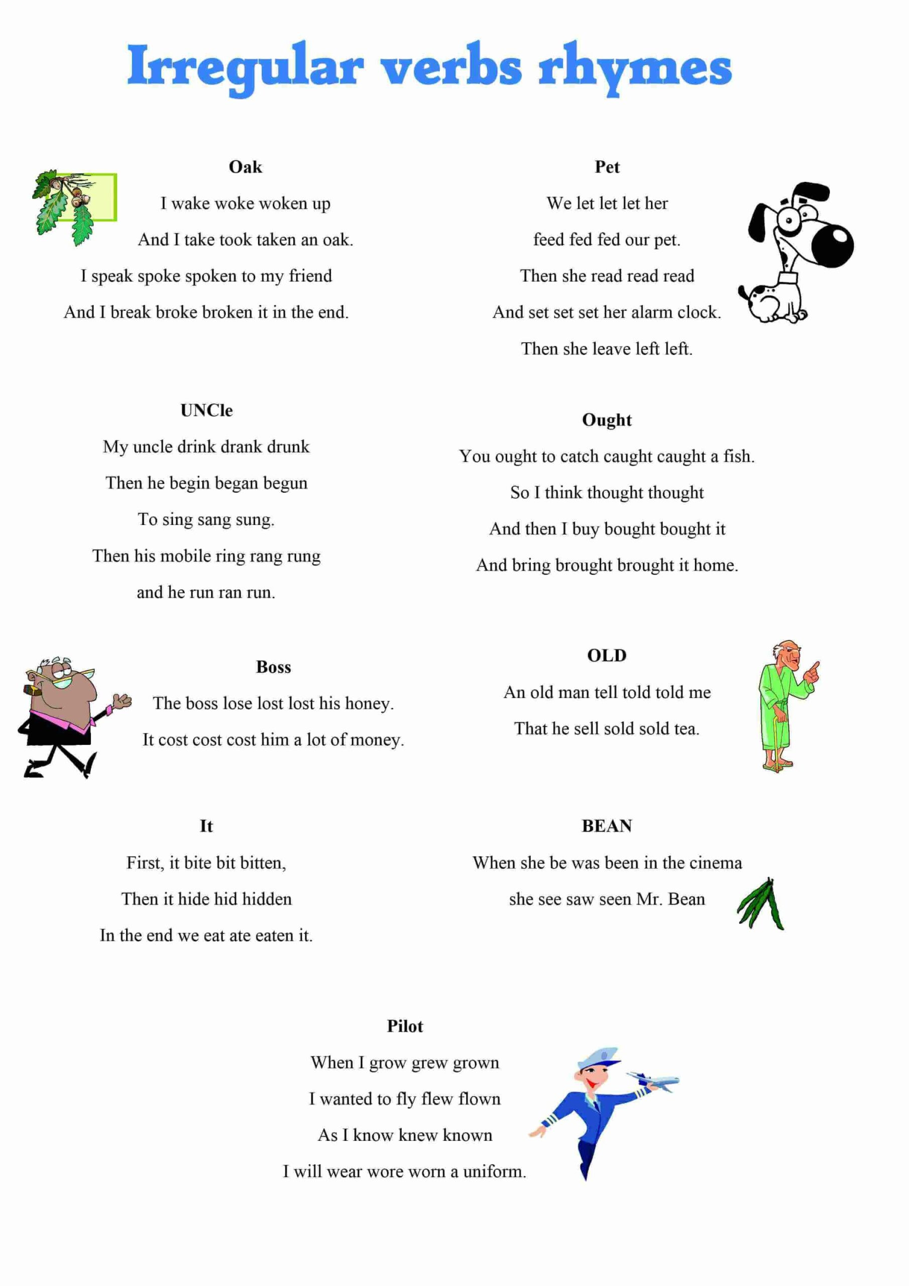 Irregular Verbs Worksheet 4th Grade Simple Past Regular Verbs Worksheet Tense English Grammar