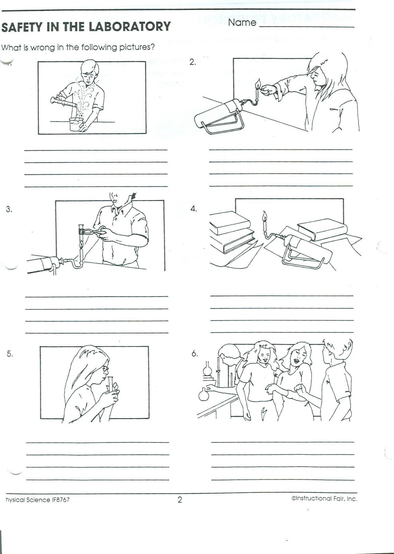Lab Safety Worksheets High School Recognizing Lab Safety Worksheet Answers Worksheet List