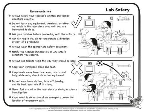 Lab Safety Worksheets High School Science Printables and Worksheets Pletely Bilingual