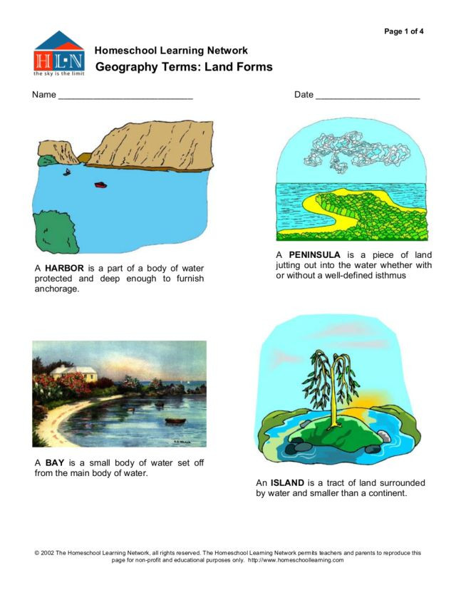 Landform Worksheets for 5th Grade Geography Terms Land forms Worksheet for 3rd 5th Grade