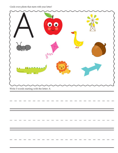 Letter A sound Worksheet Beginning Letter sounds Worksheets E Beautiful Home Blog