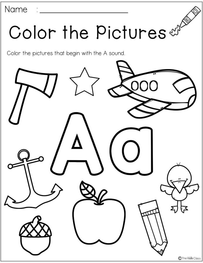 Letter A sound Worksheet Letter the Week Kindergarten Morning Work Phonics Tracing