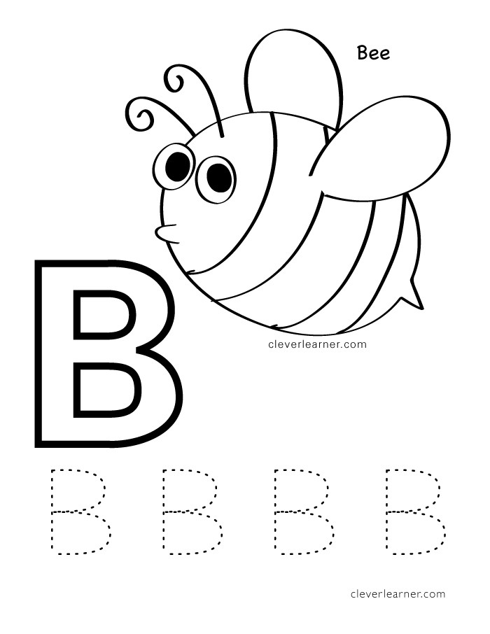 Letter B Handwriting Worksheet Letter B Writing and Coloring Sheets