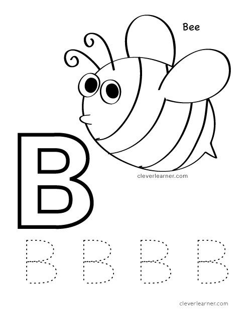 Letter B Worksheets Preschool B is for Bee Letter Practice Worksheet for Preschool