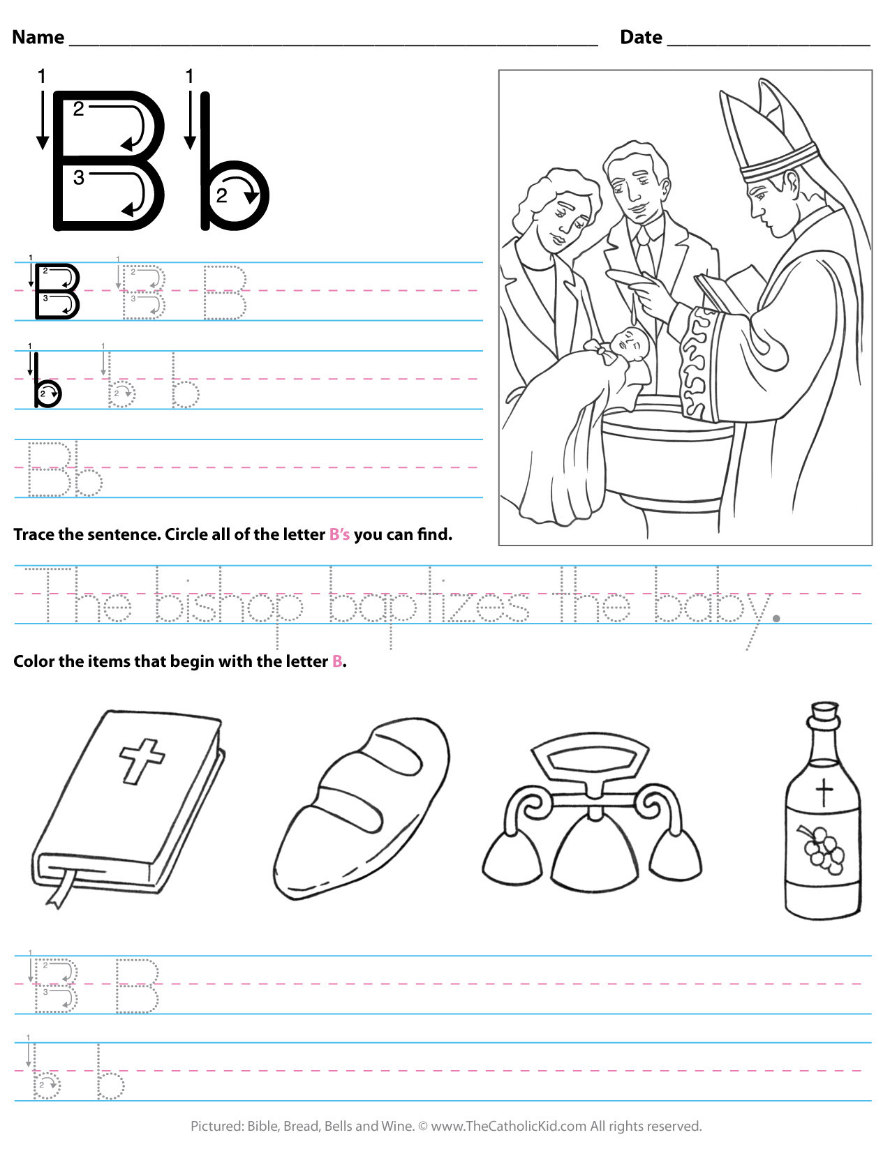 Letter B Worksheets Preschool Catholic Alphabet Letter B Worksheet Preschool Kindergarten