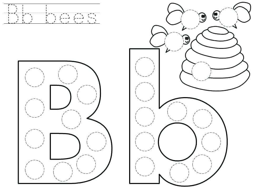 Letter B Worksheets Preschool Downloadable Letter B Worksheets for Preschool Kindergarten
