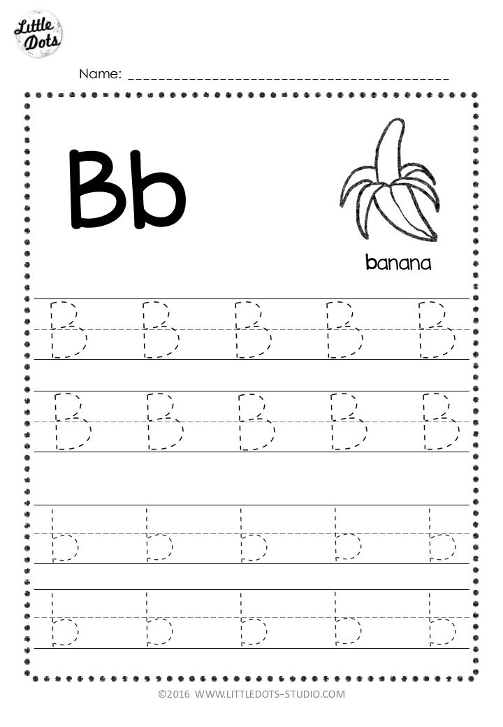 Letter B Worksheets Preschool Free Letter B Tracing Worksheets