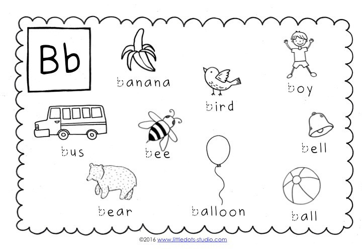 Letter B Worksheets Preschool Preschool Letter B Activities and Worksheets