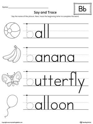Letter B Worksheets Preschool Preschool Printable Worksheets