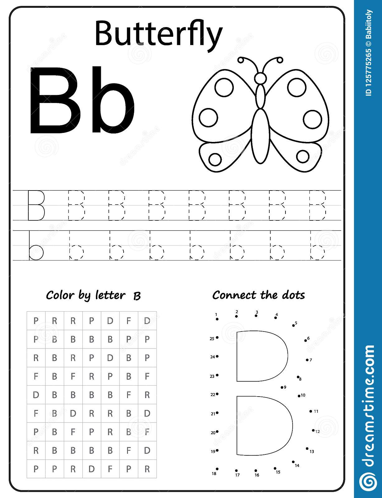 Letter B Worksheets Preschool Writing Letter Worksheet Alphabet Exercises Game Kids Task