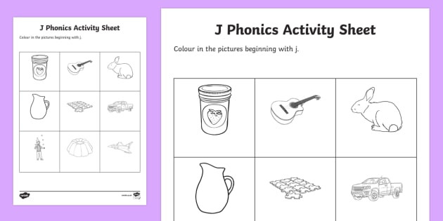 Letter J Phonics Worksheets J Phonics Colouring Worksheet Worksheet Teacher Made
