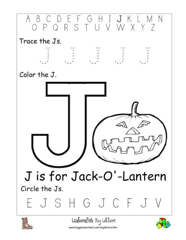 Letter J Phonics Worksheets Letter J Alphabet Worksheets