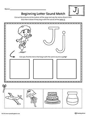 Letter J Phonics Worksheets Letter J Mini Book Printable