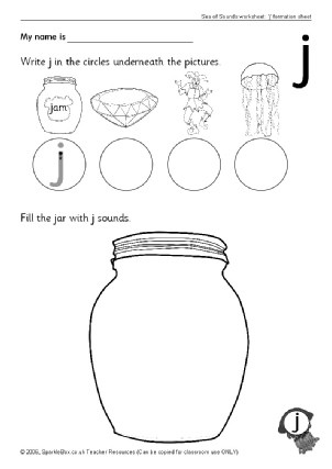 Letter J Phonics Worksheets Letter J Phonics Activities and Printable Teaching Resources