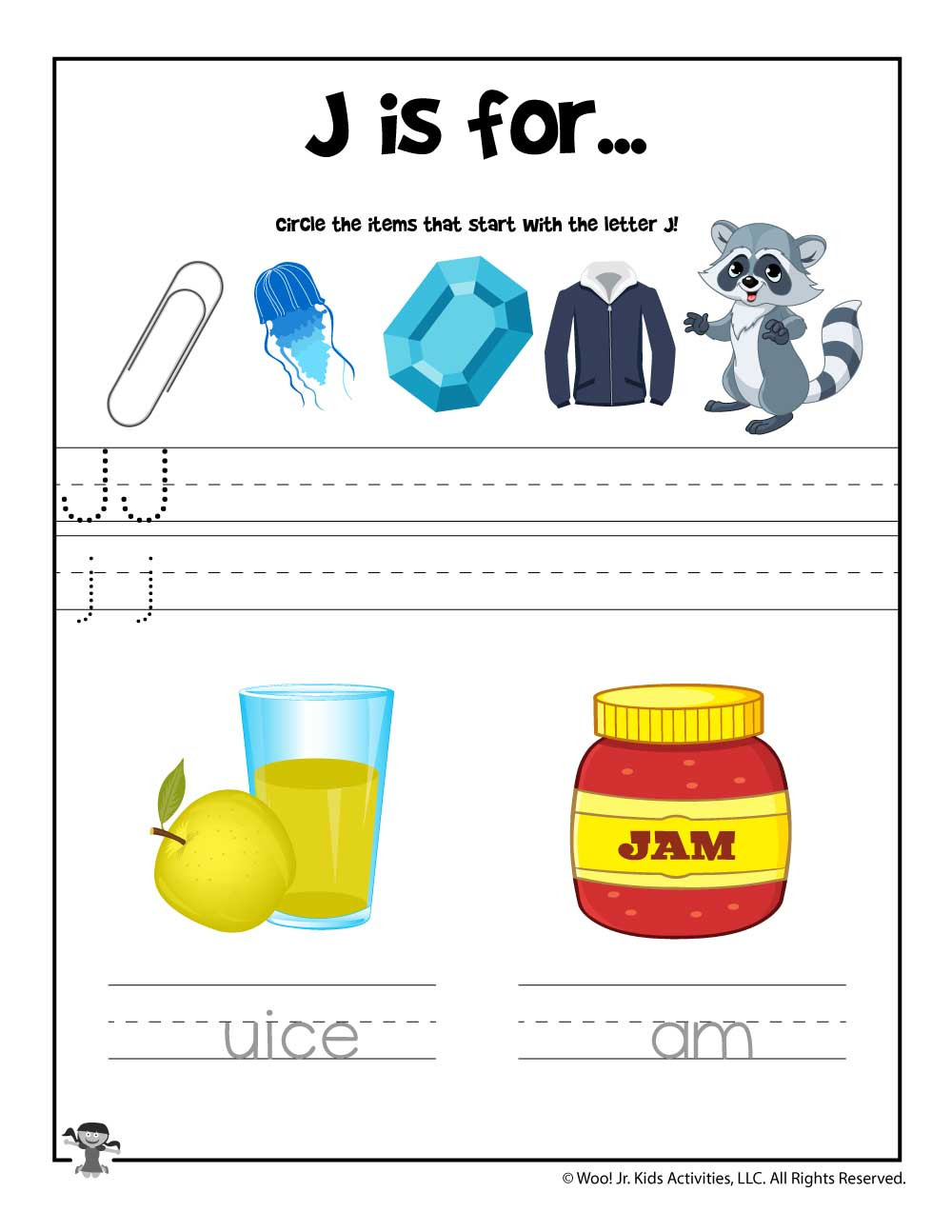 Letter J Phonics Worksheets Letter J Phonics Recognition Worksheet