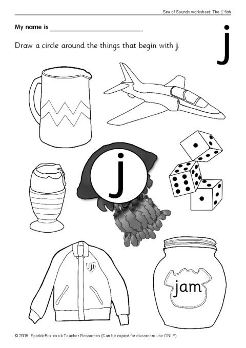 Letter J Phonics Worksheets Letter J Worksheets Sb440 Sparklebox