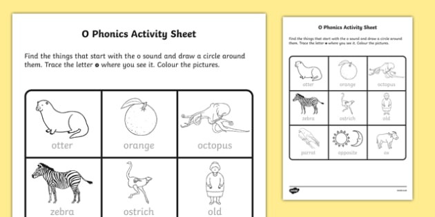 Letter O Phonics Worksheets O Phonics Worksheet Worksheet Irish Worksheet