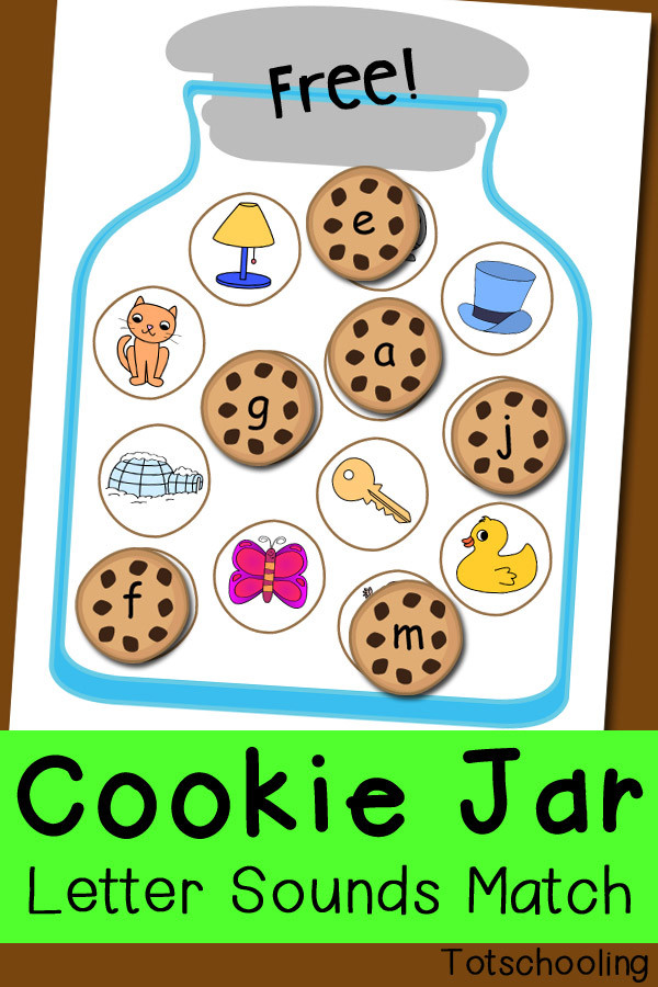 Letter sound Matching Worksheets Cookie Jar Letter sounds Matching