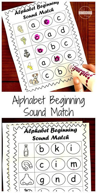 Letter sound Matching Worksheets Free Beginning sounds Worksheets