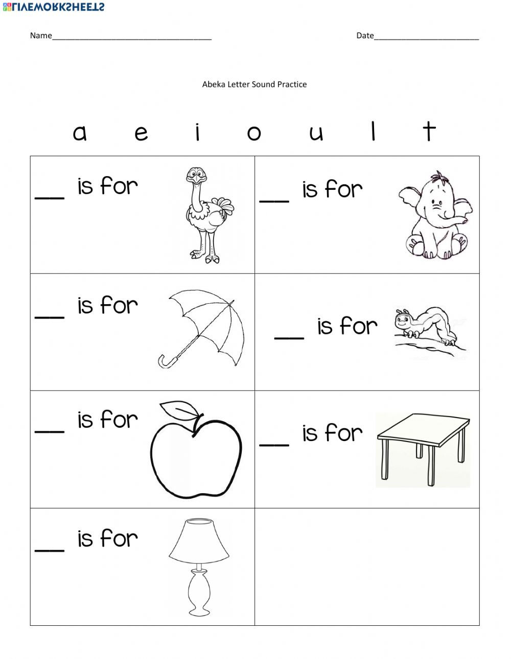 Letter sound Matching Worksheets Initial sound Match Worksheet