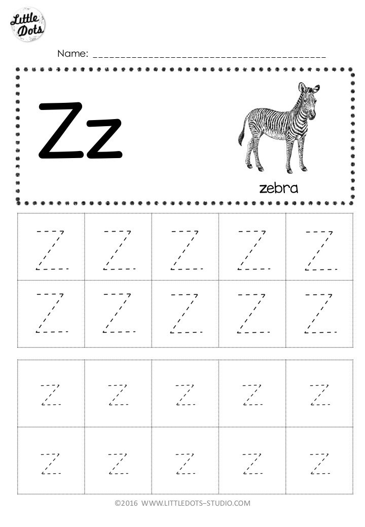 Letter Z Worksheets for Kindergarten Free Letter Z Tracing Worksheets