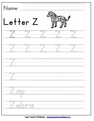 Letter Z Worksheets for Kindergarten Letter Z Worksheets Recognize Trace & Print
