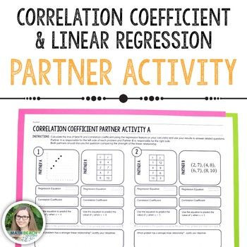 Linear Regression Worksheet High School Correlation Coefficient Partner Activity Linear Regression