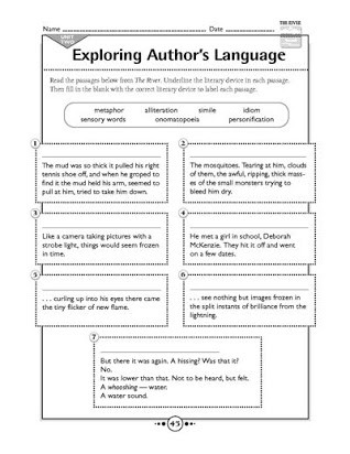 Literary Devices Worksheet High School Free Worksheets On Literary Devices
