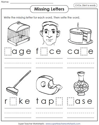 Long Vowel Worksheets First Grade Silent E Worksheets