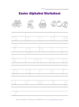 Lower Case Alphabets Worksheets Easter Alphabet Worksheet Tracing Lowercase Letters