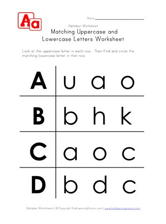 Lower Case Alphabets Worksheets Letter Worksheets Uppercase and Lowercase A B C and D