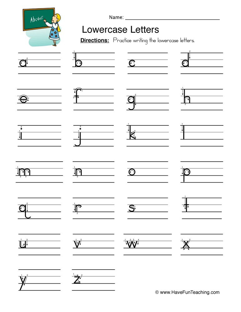 Lower Case Alphabets Worksheets Lowercase Letters Writing Worksheet