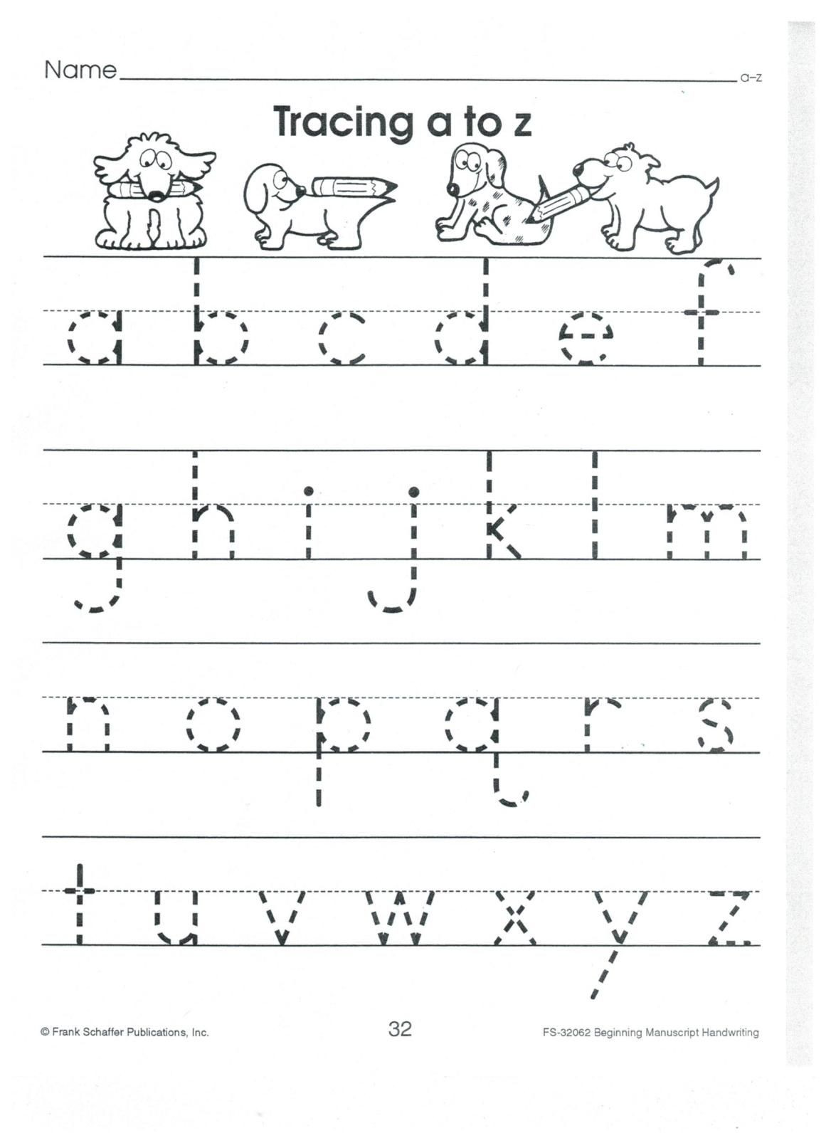 Lower Case Alphabets Worksheets Worksheet English Print to Z Lower Case Alphabet Tracing