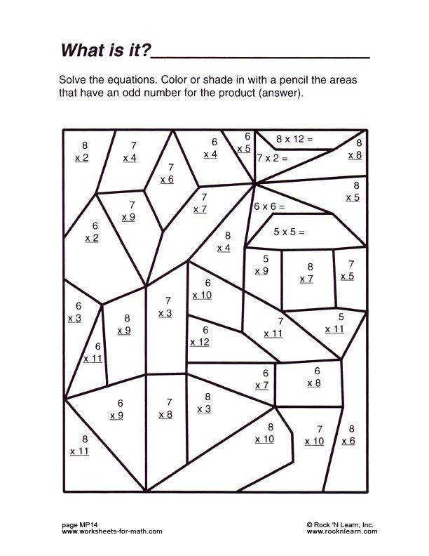 Math Coloring Worksheets High School Multiplication Coloring Printable Middle School Math